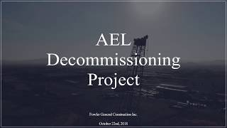 AEL Decommissioning Project - October 2018