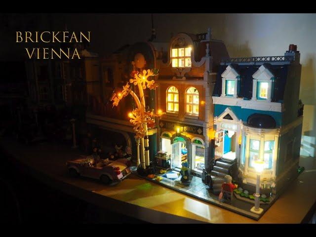 Und wieder einmal hebt Licht das Bauwerk in höhere Dimensionen - LEGO® Bibliothek 10270 mit Licht