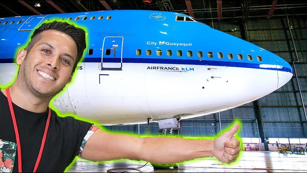 AQUÍ GUARDAN LOS AVIONES GIGANTES KLM! 😱 | ✈️ CapiTienda