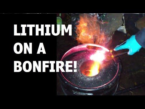 Burning LITHIUM metal on a Bonfire!