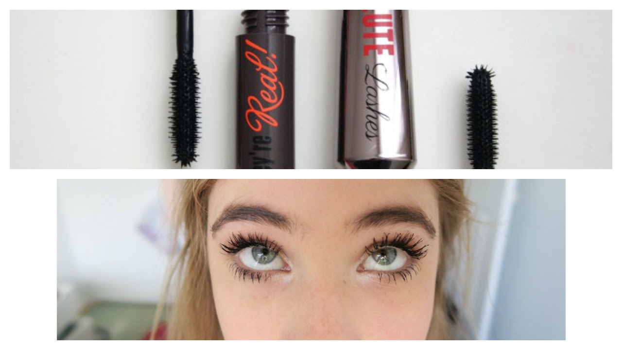 85380e46640 $5 Dupe for benefit they're real mascara?! Comparison to W7 absolute lashes  - YouTube