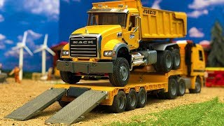 Amazing Truck Construction Site Bruder Toys Dump Truck Excavator Action