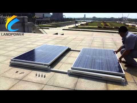 Flat Roof Ballasted Solar Mounting Systems: Landscape Non Penetration Mounting