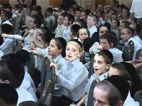 Orthodox Jewish children singing, very cute - YouTube