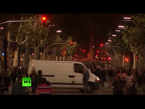 Catalonia pro-independence protesters march in Barcelona as movement leaders arrested
