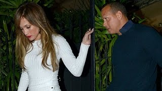 Jennifer Lopez Sports Sexy White Mini-Dress For Date Night With Alex Rodriguez