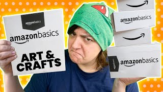 CASH or TRASH? Testing ALL Amazon Basics Art & Craft Supplies