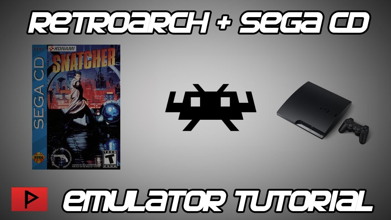 [How To] Play Sega CD Games With RetroArch PS3 Emulator (Snatcher Example)