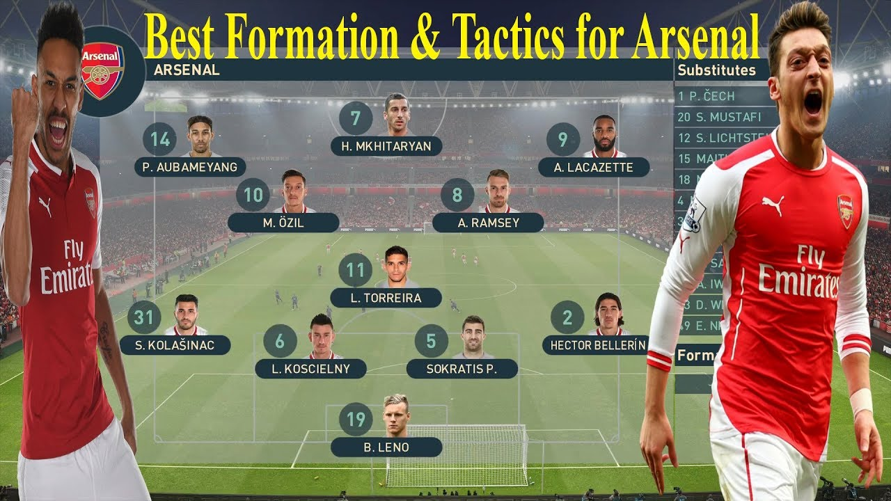 PES 2019 - Best Formation & Tactics for Arsenal | WE PES