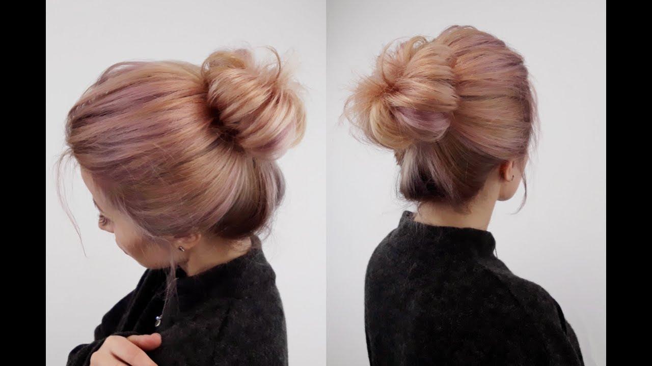 Lazy Summer hair :)   Hair bow bun, Curly hair styles ...  Hispanic Hair Lazy Bun