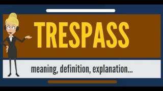 What is TRESPASS? What does TRESPASS mean? TRESPASS meaning, definition & explanation