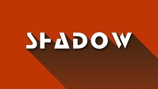 Easy/Simple/Fast Way To Create Long Shadow Effects in Adobe Photoshop (HINDI) Tutorial