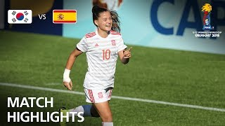 Korea Republic v Spain  - FIFA U-17 Women's World Cup 2018™ - Group D