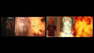 Lego Iron Man 3 Trailer Side By Side