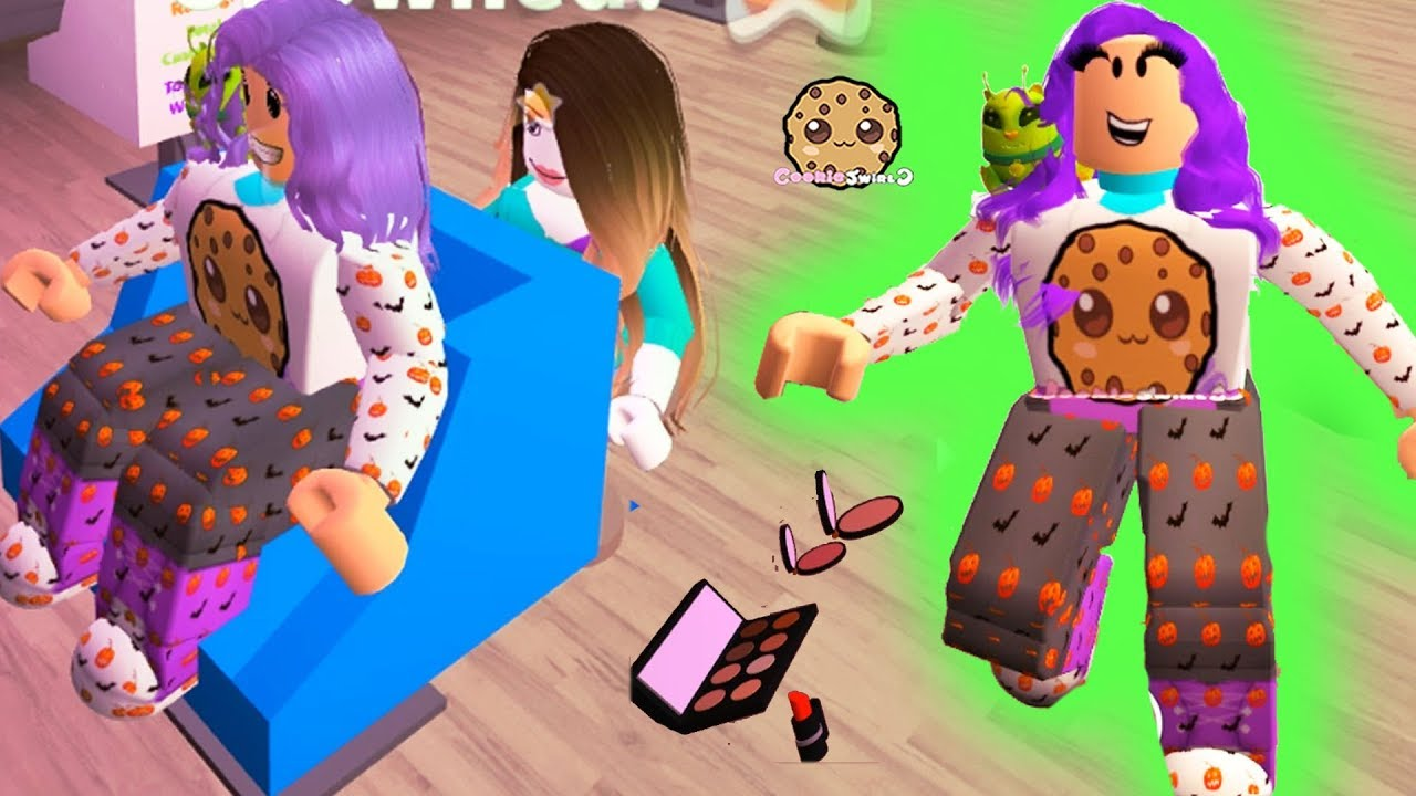Halloween Salon Style Makeover Let S Play Roblox Game Cookie
