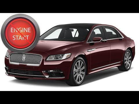 Lincoln Continental Open And Start 2017 And Newer Models With A