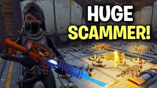 evil little lying scammer gets exposed! 😃 (Scammer Get Scammed) Fortnite Save The World