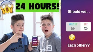 INSTAGRAM Followers control our lives for 24 hours!!! Brock and Boston (Instagram Challenge)