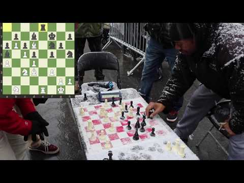 Chess Hustler gets outplayed by an Ivy League student! -NYC Chess Hustling 1