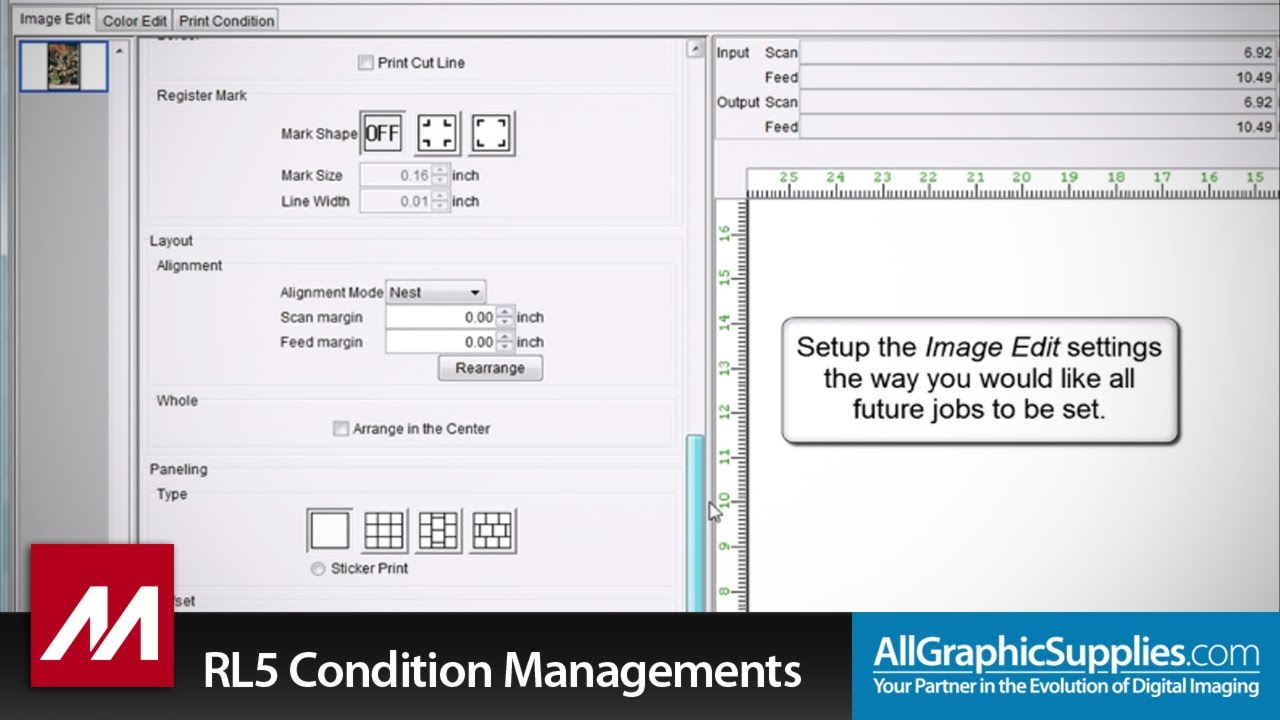 Setting Condition Managements in Mimaki RasterLink - All Graphic Supplies