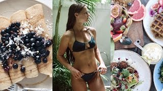 VLOG // KILLER Ab Workout + What I Eat In A Day Vegan #104 (a lot of food)