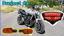 Stop em Led + Novos piscas || Yamaha FZ6 project #1