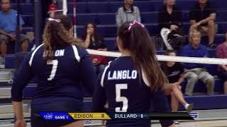 High School Girls Volleyball: Edison at Bullard