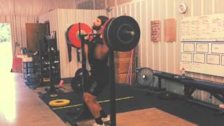 George: 150kg Front Squat - Weightlifting Academy Team