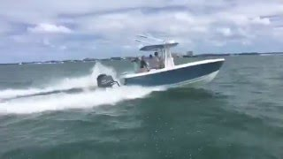 22' Center Console Fishing Boat Running