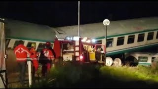 Italy train crash: at least one killed and 16 wounded