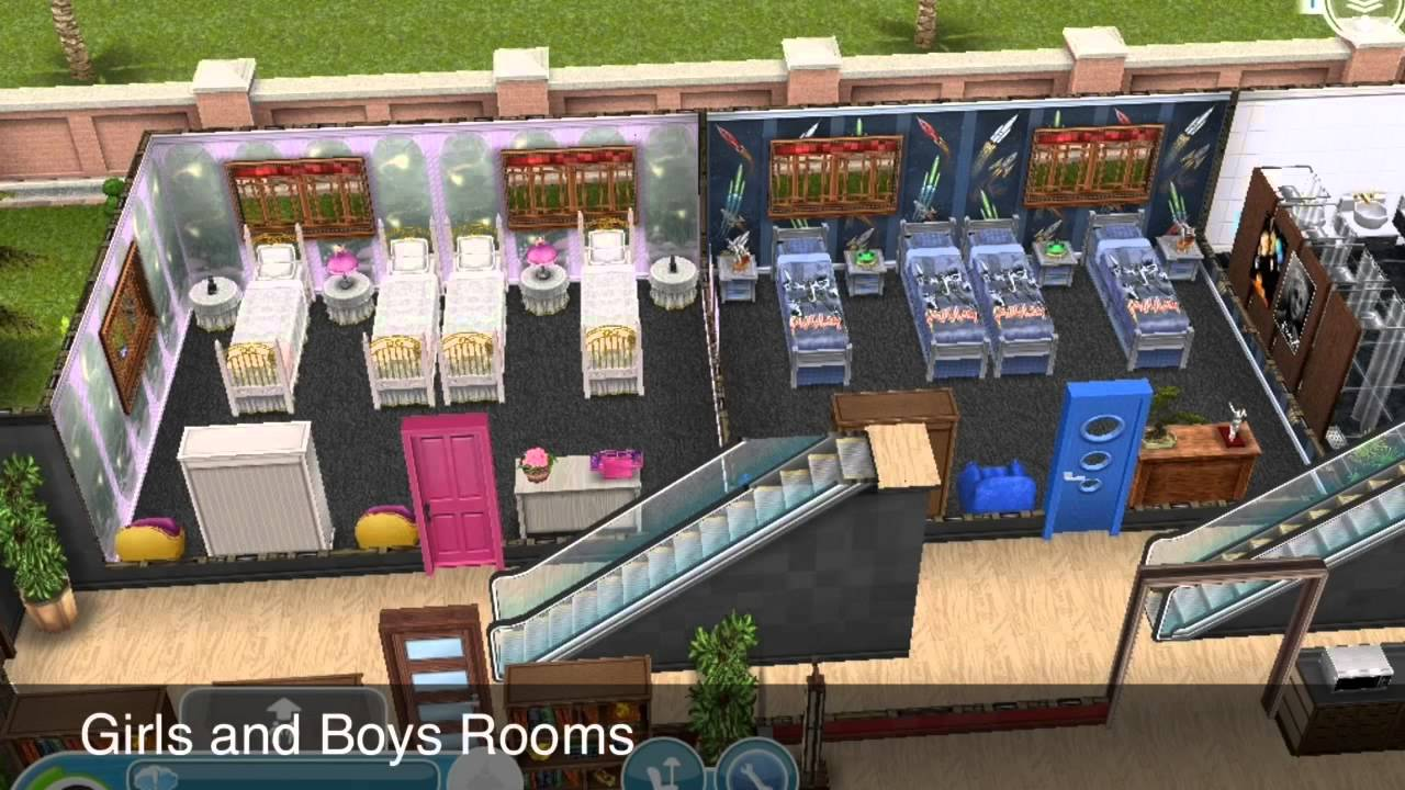 Sims Freeplay My Boarding School For My Preteens Youtube