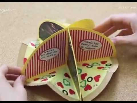 How to make Gift Card Pizza  DIY Recycle & Music