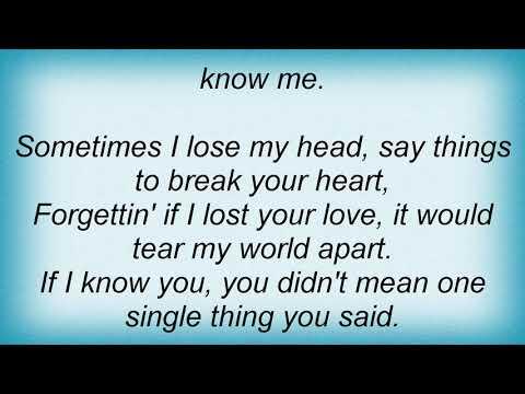 George Strait - If I Know Me Lyrics