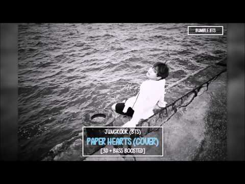 [3D+BASS BOOSTED] BTS 방탄소년단 JUNGKOOK - PAPER HEARTS (COVER) | bumble.bts
