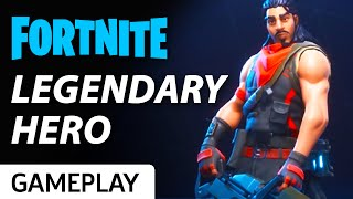 Hawk The Legendary Hero Rides The Lightning In Fortnite Gameplay