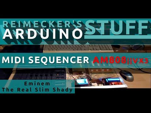 Arduino Midi Sequencer Studio Racktile Records DAW (Eminem-The Real Slim Shady)