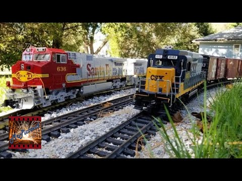 Backyard Large Scale Railroading G Gauge Freight Trains 10-13-2019