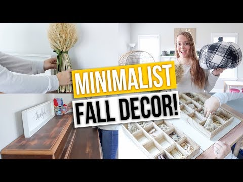 MINIMALIST FALL DECORATE WITH ME 2019! Fall Home Decor & Toy Rotation