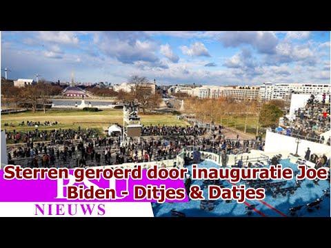 Sterren geroerd door inauguratie Joe Biden - Ditjes & Datjes