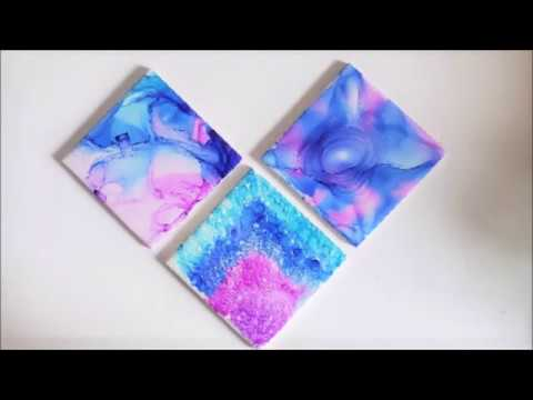 Sharpie Marker Tile Drink Coasters ~ Quick and Easy