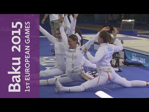 Women's Team Epee Final Full Replay | Fencing | Baku 2015 European Games