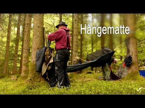 Hängematte im Wald Hütte Stille & Natur | Outdoor Bushcraft Waldläufer