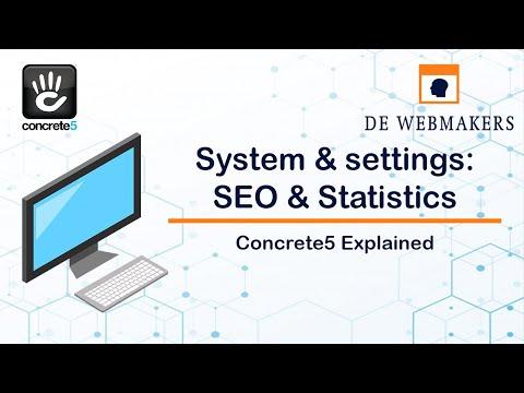 seo aamp statistieken instellingen concrete5 explained