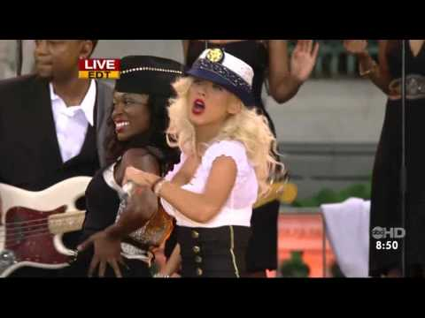 Christina Aguilera - Candyman Live  Good Morning America  HD