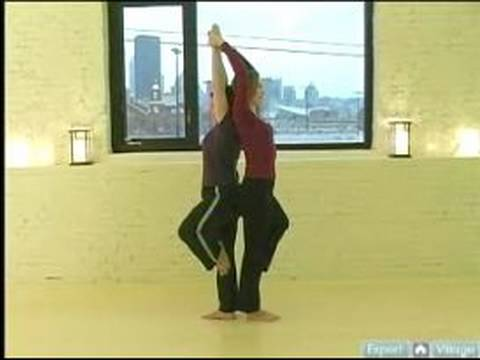 partner yoga positions  double tree pose for partner