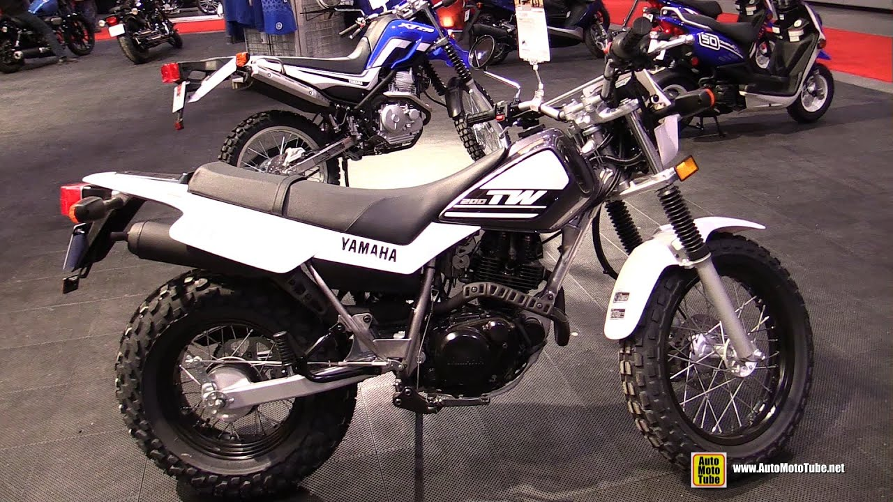 2015 Yamaha TW200 - Walkaround - 2015 Toronto Motorcycle Show - YouTube