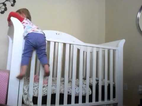 19 Month Old Baby Climbs Out Of Crib