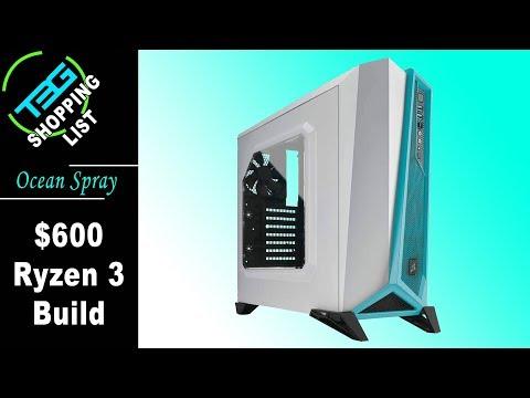 $600 Ryzen Build - I'm calling it Ocean Spray!
