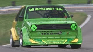 Very Fast and very Loud VW Polo with Sequential Gearbox at Swiss Hillclimb 2013 by Martin Bürki
