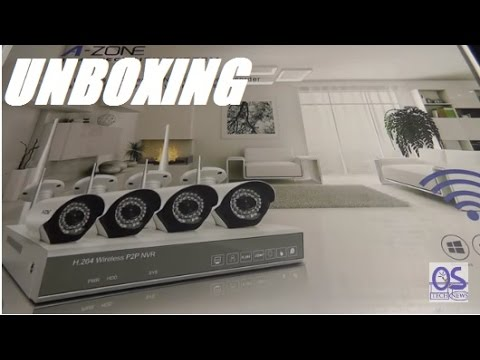 Unboxing: A-ZONE 4CH 960P NVR Wireless CCTV Security ...